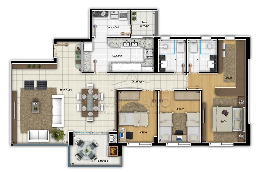 Comprar Apartamento / Padrão em Ponta Grossa R$ 530.000,00 - Foto 4